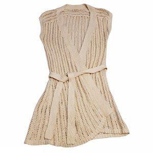 BOGO Free🦋 Old Navy Beige Open Knit Cardigan